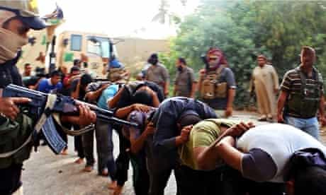 Captured Iraqi soldiers Tikrit AP
