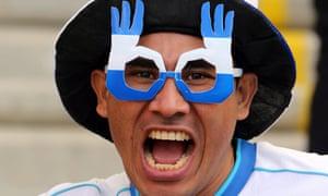 Honduras supporter smiles prior the FIFA World Cup 2014 group E preliminary round match between France and Honduras at the Estadio Beira-Rio in Porto Alegre, Brazil.