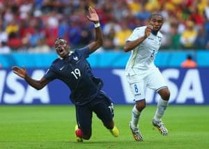 Wilson Palacios shunts Paul Pogba and gives away a penalty.