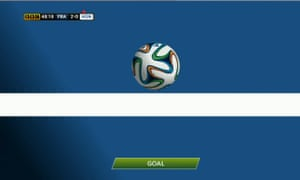 Goal-line technology shows how the ball had fractionally crossed the line.