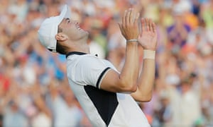 Martin Kaymer celebrates his victory in the US Open