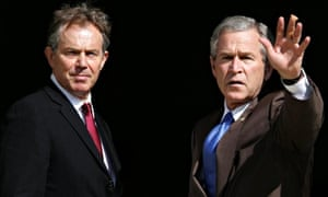 Prime minister Tony Blair with American president George Bush in 2005