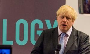 Boris Johnson at the launch of the London tech week.
