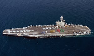 The aircraft carrier USS George H.W. Bush sailing in the Arabian Sea on June 13, 2014. The United States has ordered the ship into the Gulf in response to the crisis in Iraq, the Pentagon said.