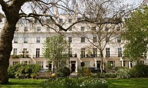 Private gardens in Belgravia, London