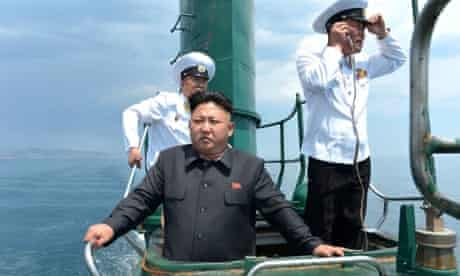 Kim Jong-Un onboard a submarine.
