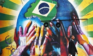 A mural painted for the World Cup in Brazil in 2014