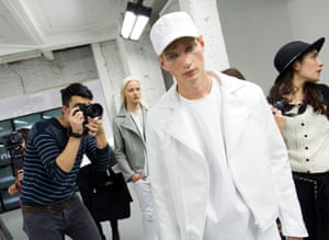 Models appear on the catwalk during a presentation by COMMON on day two of London Collections Men at the BFC presentation space, Victoria House, London. PRESS ASSOCIATION Photo. Picture date: Monday June 16, 2014. Photo credit should read: Justin Tallis/PA Wire lcmplog