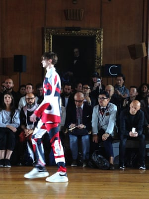 Alexander McQueen. McQueen trainers. London Men's Fashion Week SS15, Day 2, 16th June 2014 lcmplog