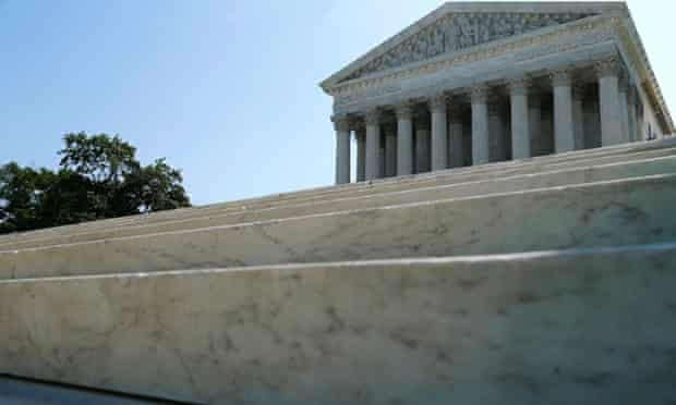 A general view of the front steps of the U.S. Supreme Court building