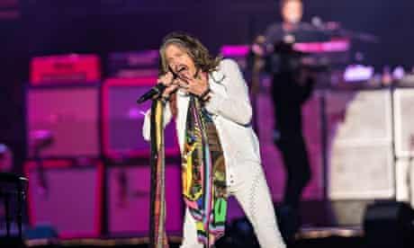 Steven Tyler of Aerosmith at Download festival 2014