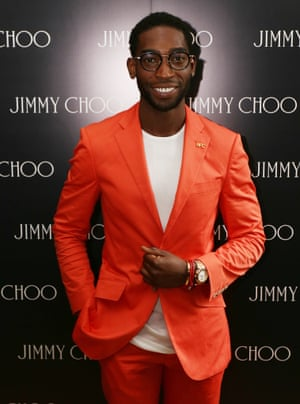 Mandatory Credit: Photo by Richard Young/REX (3834662n)  Tinie Tempah  Jimmy Choo fashion show, London Collections: Men, Spring Summer 2015, London, Britain - 16 Jun 2014 lcmplog   JIMMY CHOO FASHION SHOW LONDON COLLECTIONS MEN SPRING SUMMER 2015 BRITAIN 16 JUN 2014 TINIE TEMPAH Personality 23573197