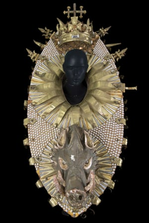 Headdress by Abdelkader Farrah for Lady Anne, worn by Ludmilla Mikael in Richard III, directed by Terry Hands, Comédie-Française - Avignon Festival, 1972.