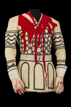Costume by Mario Prassinos for Banquo's Ghost in Macbeth, Avi- gnon Festival, Théâtre National Populaire, 1954.