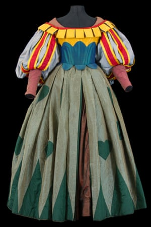 Costume by Jean-Pierre Vergier for the Queen of Comedy, worn by Eric Genovese in Hamlet, directed by Georges Lavaudant, Comédie-Française, 1994.