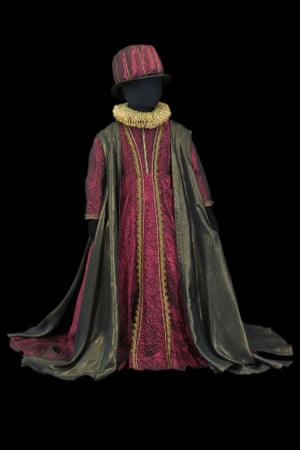 Costume by Yannis Kokkos for a courtier in Macbeth, opera directed b y Antoine Vitez, Palais Garnier, 1987.