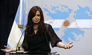 Argentinina's president, Cristina Fernández de Kirchner