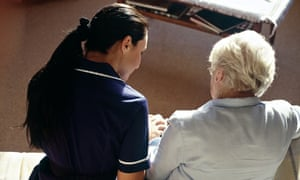 district nurse making a home visit