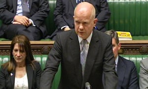 Up to 400 UK citizens may be fighting in Syria, says William Hague
