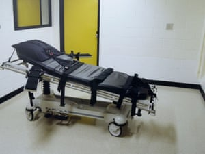 The death chamber at the Georgia Diagnostic Prison in Jackson. execution death row lethal injection