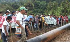 U'was along the Caño Limon-Covenas oil pipeline running through their ancestral territory.