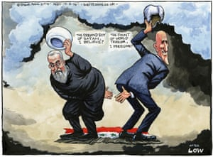 Steve Bell on the US-Iran response to the Iraq crisis