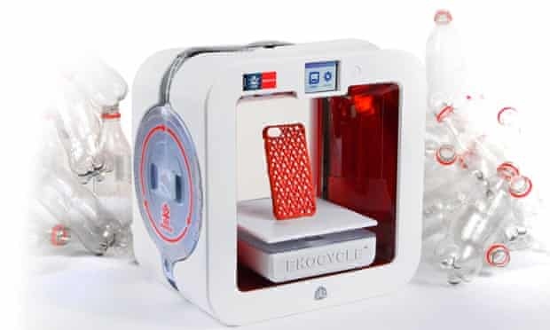 The Ekocycle Cube 3D printer uses filament made from Coke bottles.
