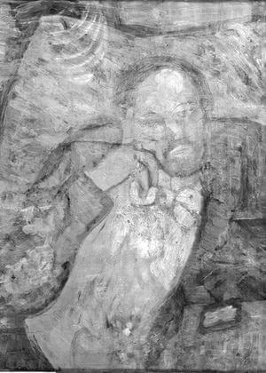 Infrared image show the mystery man.