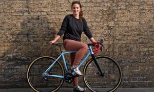 Collyn Ahart on her bike