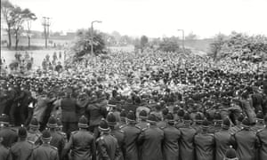 Police And Pickets Outside The Orgreave Coking Plant