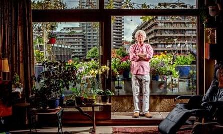 William Howard with his Barbican garden