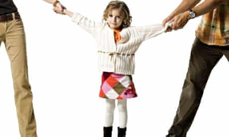 Unhappy young girl in custody battle