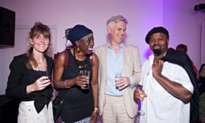 Alison Tickell, Baroness Lola Young, Ruaridh Nicoll and Ben Okri with guests