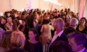 Observer Ethical Awards 2014 end of ceremony guests celebrating