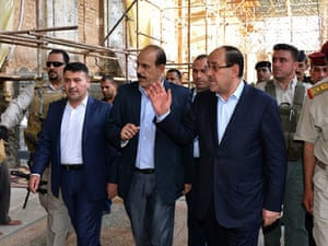 Iraqi Prime Minister Nouri al-Maliki  during a visit to the embattled city of Samarra last week.