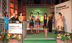 Livia Firth and Giulio Bonazzi presents Sustainable Fashion, Observer Ethical Awards 2014