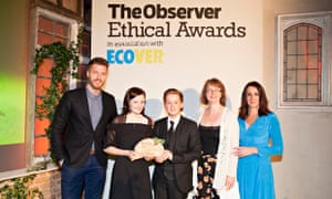 The winner of the Ecover Young Green Champions is Mama Margaret's, Observer Ethical Awards 2014