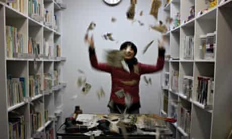 Joshua Sofaer's Rubbish Library, in Japan