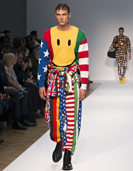 90s style: Moschino Catwalk Show at London Collections: Men SS15