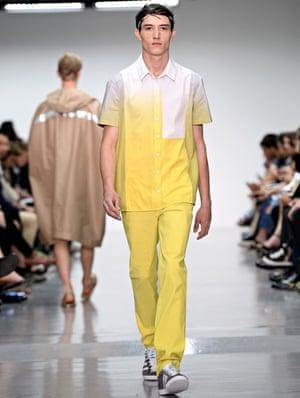 yellow style: Richard Nicoll: Runway -  London Collections: Men SS15