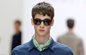 Cravat at Margaret Howell during her London Collections: Men show in London