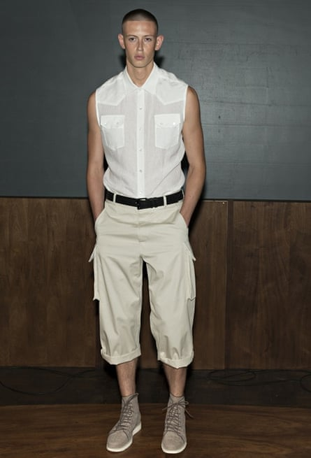 Casual wear Jimmy Choo catwalk at London Collections: Men SS15