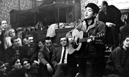 Bob Dylan singers club 1962