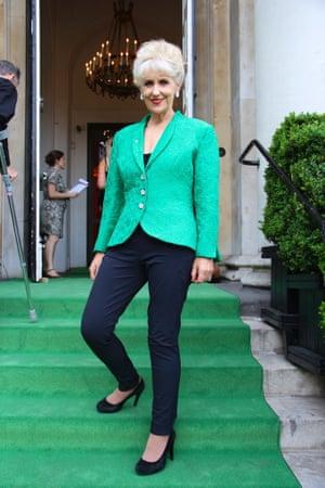 Anita Dobson arriving on the green carpet, Observer Ethical Awards 2014