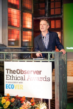 John Mulholland, editor of The Observer, opens the proceedings at The Observer Ethical Awards 2014