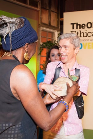 Baroness Lola Young presents the Arts and Culture award to Mat Fraser, Observer Ethical Awards 2014