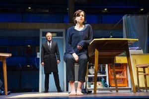 Bill Nighy as Tom Sergeant and Carey Mulligan as Kyra Hollis in Skylight by David Hare.