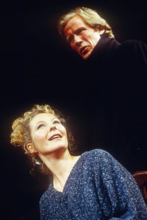 Bill Nighy and Stella Gonet in Skylight at the Vaudeville theatre in July 1997.