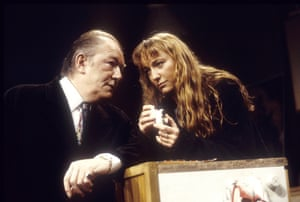 Michael Gambon and Lia Williams in Skylight the Cottesloe, National Theatre. May 1995.