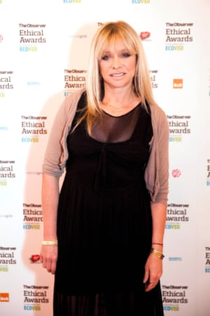 Jo Wood at The Observer Ethical Awards 2014